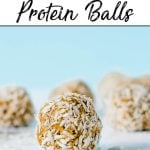 Pinterest pin of Vanilla Shakeology energy bites