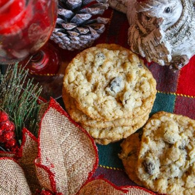 Buttery Oatmeal Raisin Coconut Lace Cookies