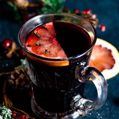 Ruby Red Grapefruit Mulled Wine
