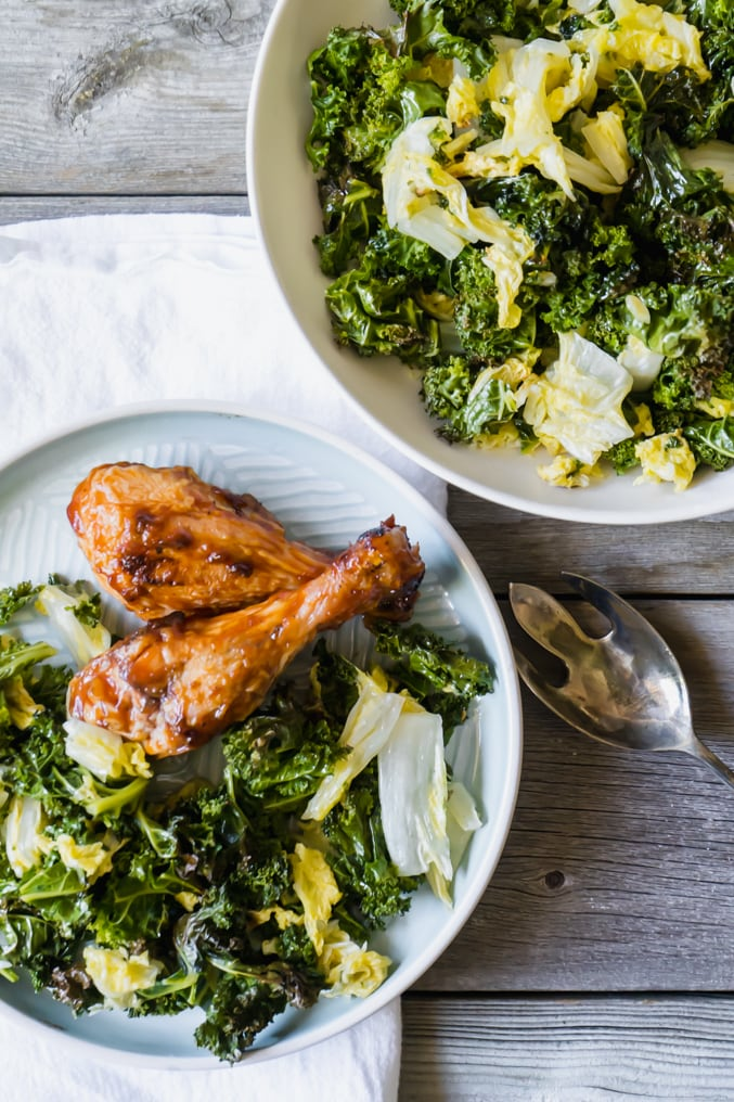 Roasted Kale Napa Cabbage The Delicious Spoon