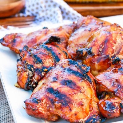 Honey Sriracha Grilled Chicken Thighs Recipe