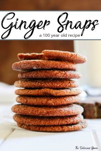 Pinterest pin of ginger snap cookies