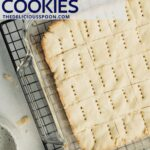Classic shortbread on a cooking rack