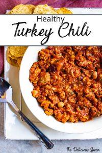 Pinterest pin of turkey chili