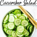 Pinterest Image for Asian Cucumber Salad