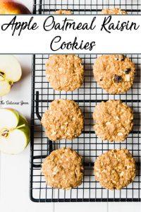 Pinterest pin of Oatmeal Raisin Cookies