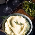 Parsnip puree in a bowl