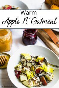 Pinterest pin of warm apple n'oatmeal