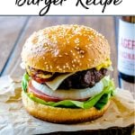 Pinterest Pin - picture of hamburger