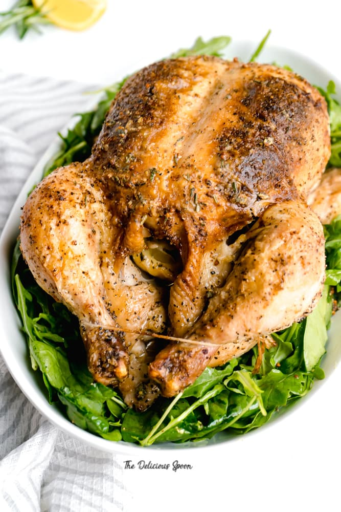 Whole Roasted Chicken with Dijon Herb Butter