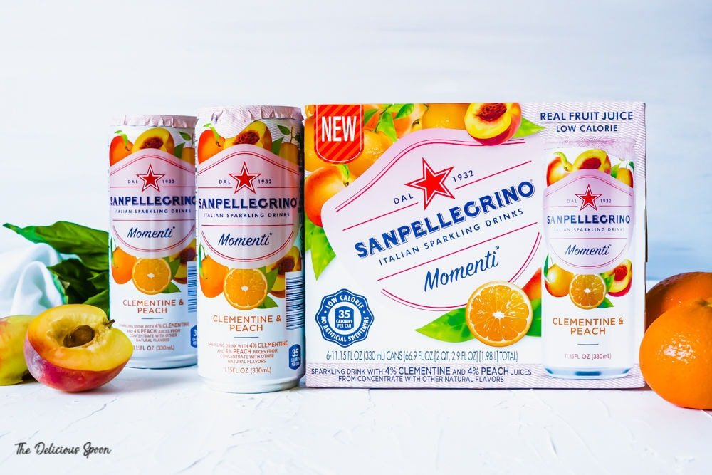Package of SanPellegrino Momenti Clementine & Peach #shop #cbias