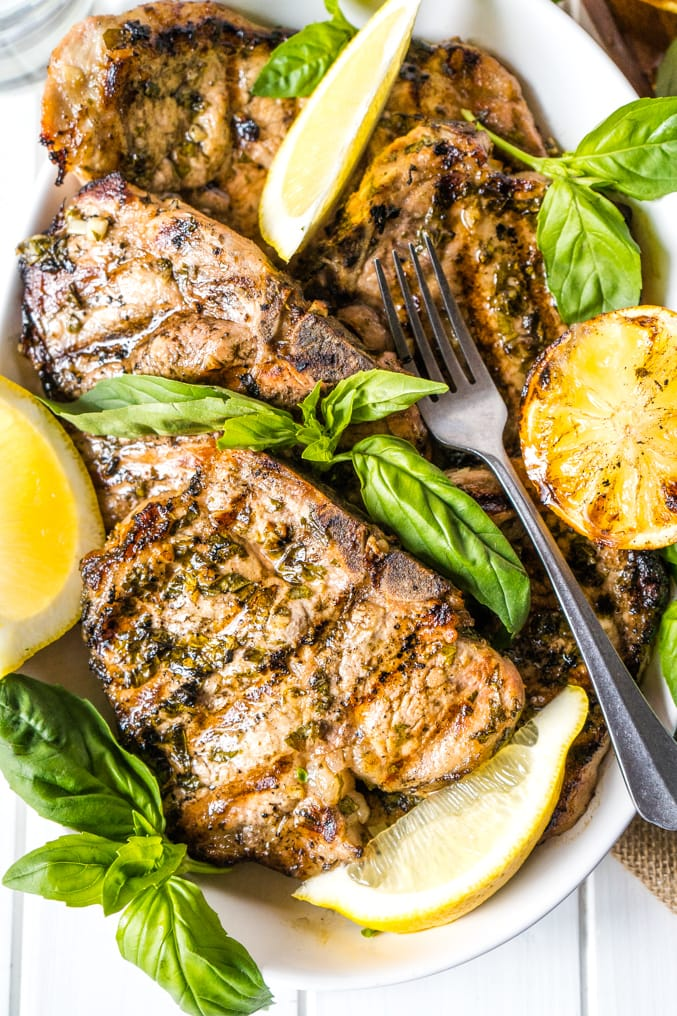 Lemon Basil Freezer Meal Pork Chops