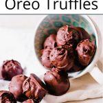 Pinterest pin for Oreo truffle balls