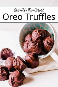 Pinterest pin for Oreo truffle balls