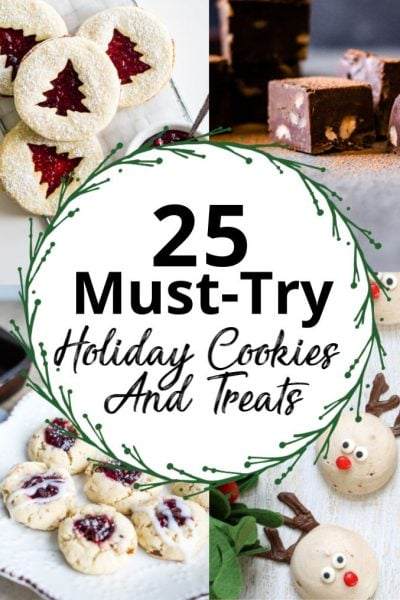 Recipe Round Up of 25 Must Try Holiday Cookies