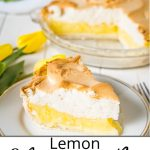 Pinterest pin for a classic lemon meringue