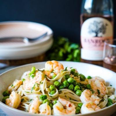 Aglio & Olio Shrimp Fettuccine