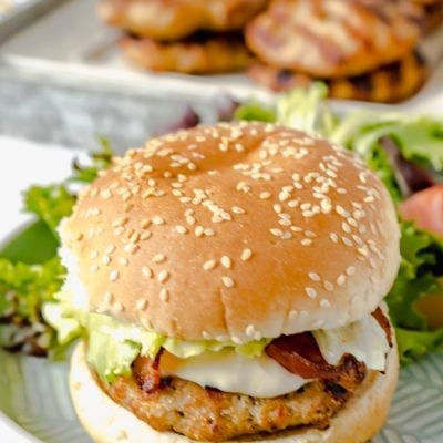 Lemon Parmesan Chicken Burger Recipe