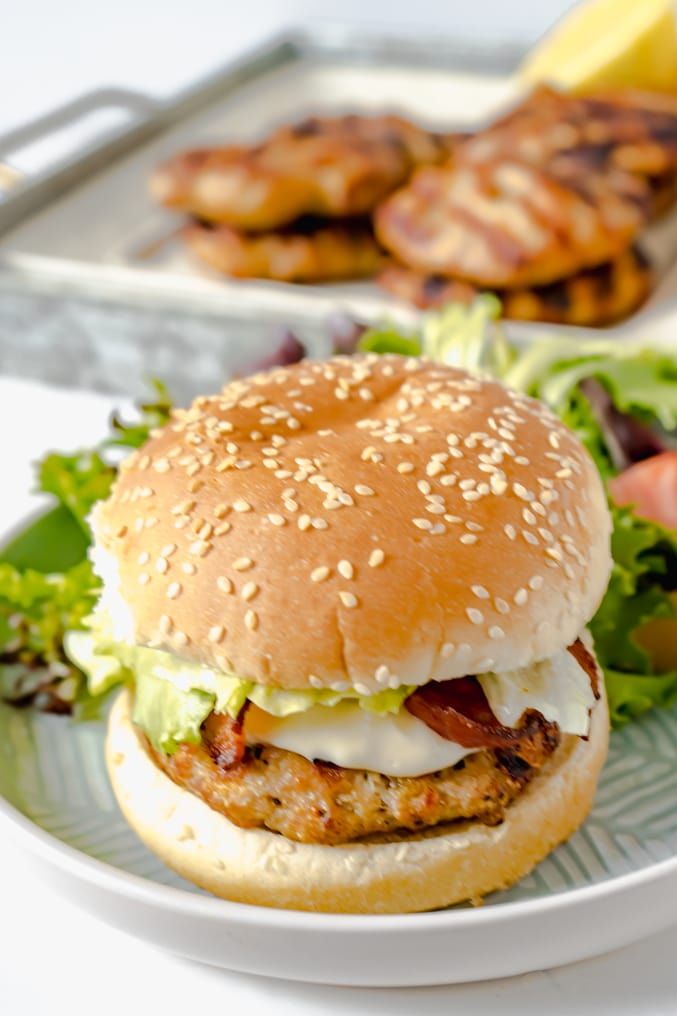 Lemon Parmesan Chicken Burger Recipe