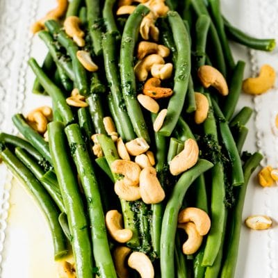 Butter smothered green Beans & Cashews
