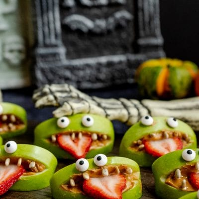 Halloween Monster Apple Snacks