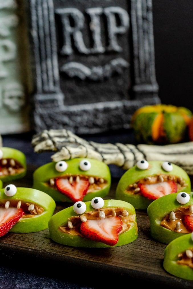 Halloween Monster Apple Snacks