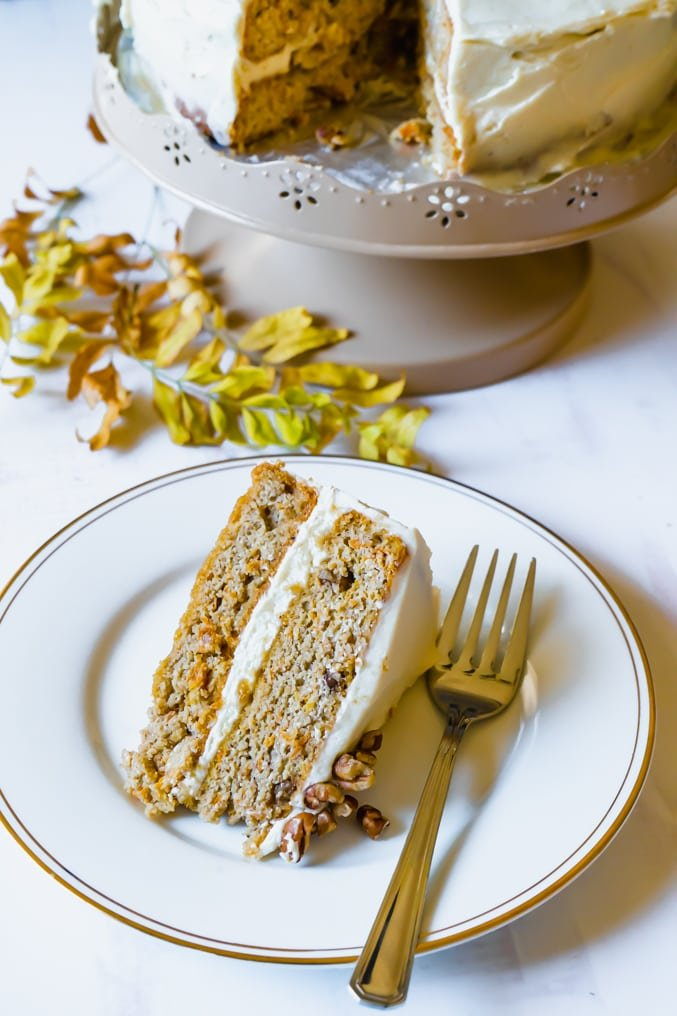 Keto & Gluten-Free Carrot Cake