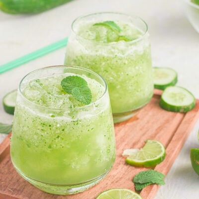 Frozen Cucumber Mojito Mocktail
