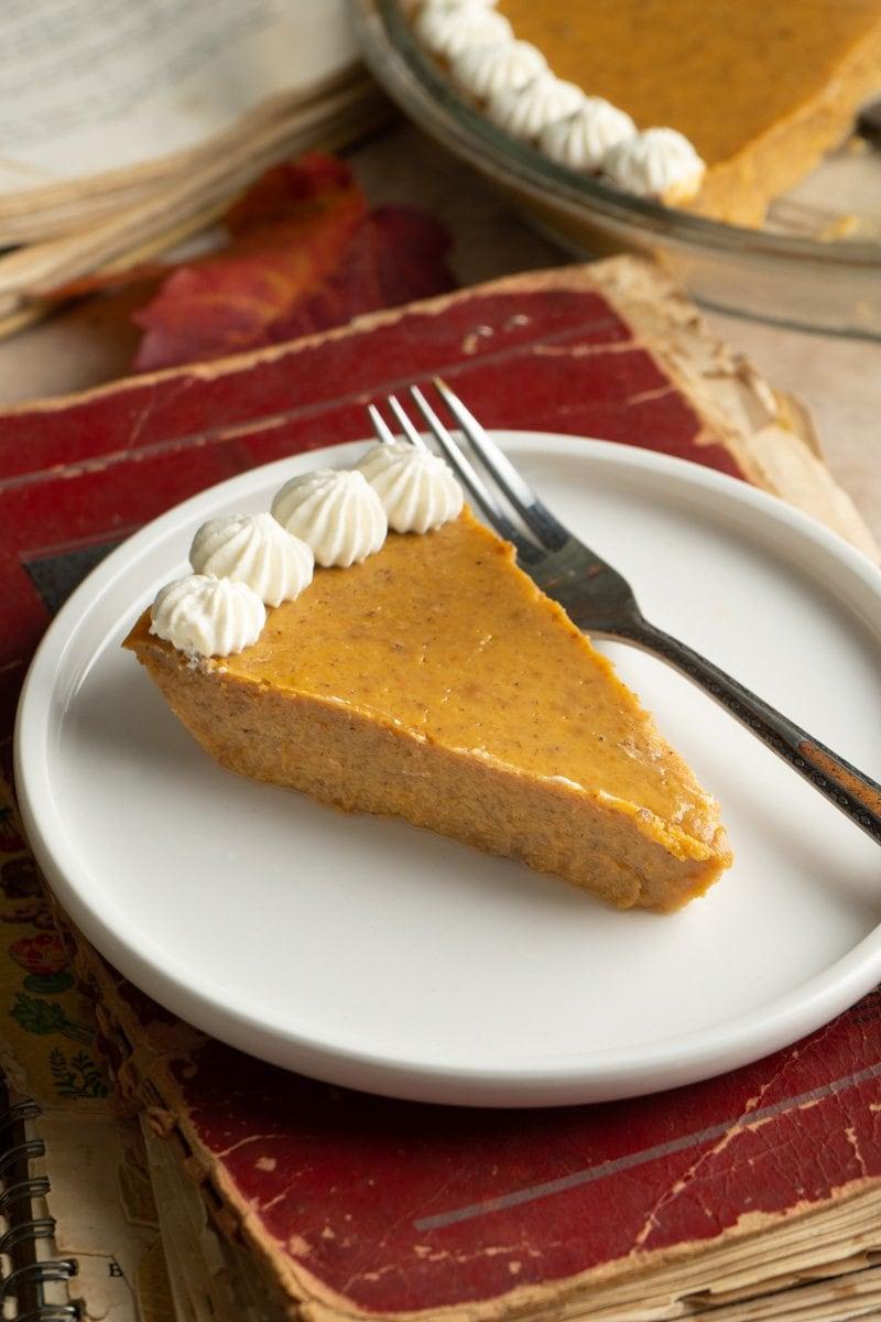 Crustless Pumpkin Pie with Maple Whip